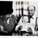 1940s Vintage Smiling Boy w/Family Cute Kid Old Photo B&W Children American USA
