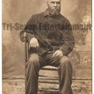 Antique African American Man Old Real Photo Postcard RPPC Black Americana