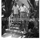 Vintage African American Photo Older Men Posing On Steps Old Black Americana
