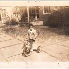 1943 Vintage Photo Cute African-American Boy Tricycle Black Americana Children