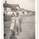 Vintage African American Couple Man Girl Hat Old Photo Young Black People Posing