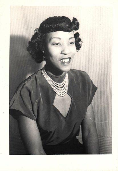 Vintage African American Photo Pretty Woman People Women Old Black Americana