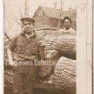 Vintage African American Photo Lumberjacks Men Man Workers Old Black Americana