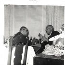 Vintage African American Photo Older Men Talking Chatting Old Black Americana