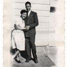 1940s Vintage Happy African-American Woman Man Old Photo Black Americana People