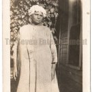 Antique African American Photo Older Woman in Bonnet Dress Old Black Americana
