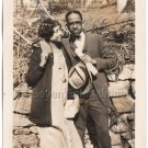 1920s Antique African American Couple Man Woman Old Photo People Black Americana