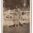 Antique African American Photo Pretty Woman Children Mother Old Black Americana