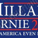 Hillary Clinton Bernie Sanders Campaign Bumper Sticker 2016 3x10 Blue Souvenir
