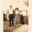 30s Antique African American Pretty Woman Style Couple Man Photo Black Americana