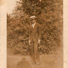 1920s Well-Dressed African-American Man Antique Photo Black Americana People USA