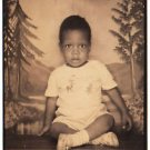 Vintage African American Cute Baby Boy Adorable Old Photo Booth Black Americana