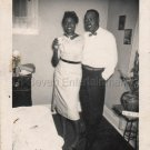 1956 Vintage Pretty African-American Woman & Her Man Old Photo Black Americana