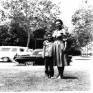 Vintage African American Photo Boy w/ Grandmother Children Old Black Americana