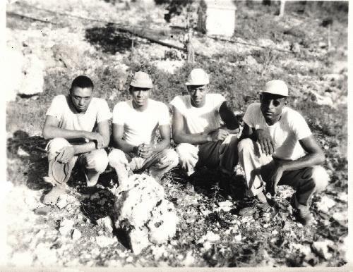 Vintage African American Photo Handsome Men Group Workers Old Black Americana