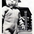1940s Vintage Sad Boy Not Happy Kid Old Photo B&W Little Children American USA