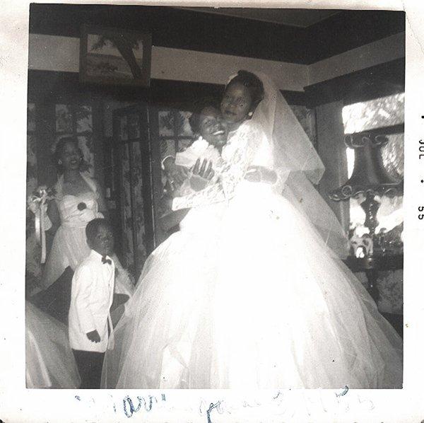 Vintage African American Photo Pretty Bride Woman Girls Old Black Americana