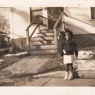 1942 Adorable African-American Young Girl Photo Original Black People Children