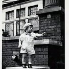 1940s Vintage Young Boy w/Cute Bow Tie Old Photo B&W Little Children American