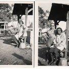 Vintage African American Photo Woman Asian Man People Old Black Americana Lot 2