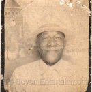 Vintage Older African-American Man w/Hat Old Photo Booth Black Americana People