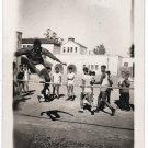 Vintage African American Young Man High Jump School Class Photo Black Americana