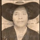 Vintage Older African American Woman Fancy Hat Old Photo Booth Black Americana