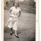 Vintage Sexy African American Pretty Woman Girl Waitress Old Photo Black People