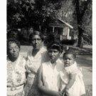 Vintage African American Photo Children Boys Girls Family Old Black Americana