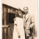 Antique African American Young Couple Photo Man Woman Dress Suit Black Americana