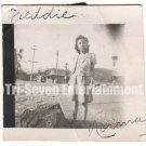Vintage African American Photo Pretty Young Woman Posing Outside Black Americana
