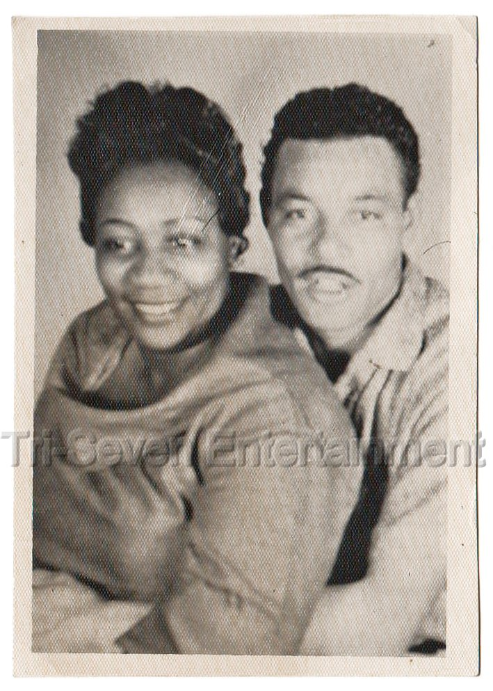 Vintage African American Couple Woman Man Mustache Old Photo Black People Posing