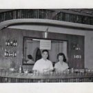 1940s Vintage Japanese Bartender and Waitress Photo at The Neo Club B&W Picture