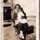 Antique African American Photo Mother with Daughter Girl Child Black Americana