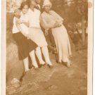 Antique African American Group Old Photo People Pretty Women Man Black Americana