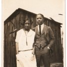 Antique African American Cute Couple Photo Man Woman Dress Suit Black Americana
