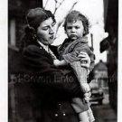 1940s Vintage Sad Boy w/Mama Cute Kid Old Photo B&W Little Children American USA