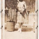30s Antique African American Pretty Young Woman Hat Old Photo Black Americana