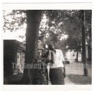 Vintage African American Photo Older Couple Outside Group Old Black Americana