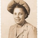 Vintage African American Photo Pretty Older Woman w/ Nice Smile Black Americana