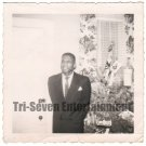 Vintage African American Photo Handsome Older Man in Suit Men Black Americana