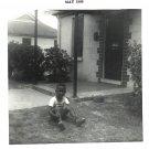 Vintage African American Photo Cute Boy on Grass Children Old Black Americana
