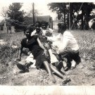 Vintage African American Photo Group of Teens Girls On Grass Old Black Americana