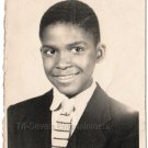 Vintage Handsome Young African American Boy in Suit School Photo Black Americana