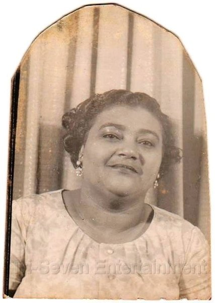 1940-50s Middle-Aged African-American Woman Pretty Face Photo Booth Black People