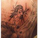 1980s Vintage Tattoo Photo Sexy Babe Body Art Old Design Artist Tattooed Flash