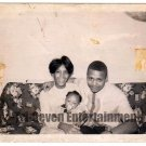 Vintage African American Photo Young Mother Father Baby Family Black Americana