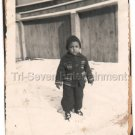 1940-1949 Vintage Young Handsome but Sad African-American Boy Photo Black People