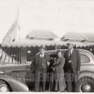1940s African American Older Men Woman Wife Group Car Old Photo Black Americana