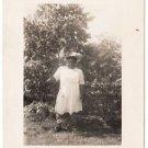 Vintage African American Photo Woman Posing Trees People Old Black Americana